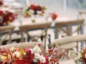 Thème mariage bordeaux doré