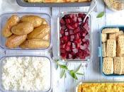Batch cooking prépare menus végétariens pour semaine