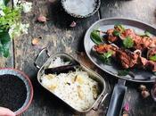 Brochettes poulet Tandoori, indien express raïta concombre {#Soukeat}