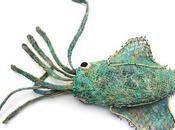 Focus sculpture créée partir filets pêche dérivant recyclés (île d'Erub, détroit Torres, Australie)
