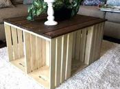 table basse caisse bois