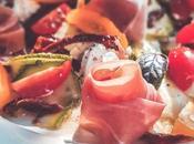 Salade courgette crue, ricotta, jambon italien