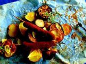 Pommes terre, aubergines, saucisses four