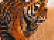 artiste pixelise photographies d'animaux basant population restante dans monde
