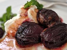 Prunes confites fromage.