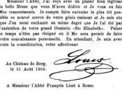 lettre Louis Bavière Franz Liszt