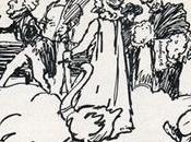 caricature d'Arpad Schmidhammer pour 100ème anniversaire Franz Liszt Richard Wagner ouvre cortège.