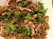 Salade lentilles lardons