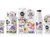 Packaging produits laitiers colorés originaux