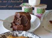 Cake chocolat, caramel beurre salé, bocal
