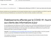 Google Entreprise commerces affectés COVID-19