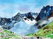 Dans haute vallée l'Ubaye, glacier rocheux Marinet (Alpes Haute Provence)