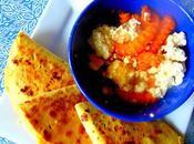 Quesadillas quinoa, chou-fleur patates douces, avec poutine!