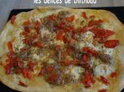 pizza thon, poivron mozzarella