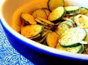 Salade concombre kéfir végétal
