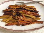 Carottes rôties parmesan paprika fumé