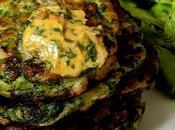 Pancakes épinards beurre citron d'Ottolenghi (Green pancakes with lime butter).