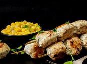 Brochettes poulet mariné.