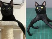 photos d'animaux maladroits transformées sculptures amusantes l'artiste japonais Meetissai (nouvelles photos)