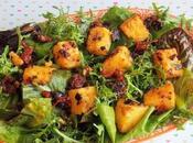 Salade variée cubes Polenta (Vegan)