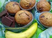 Muffins banane chocolat banana chocolate muffins magdalenas مافن الموز الشوكولاطة