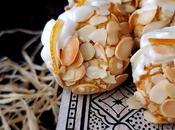Ghriba amandes fourrée ganache chocolat blanc-orange