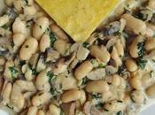 Polenta sauce champignons haricots blancs