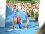 triathlon bleu fête