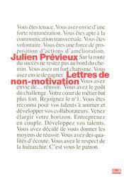 Lettres non-motivation